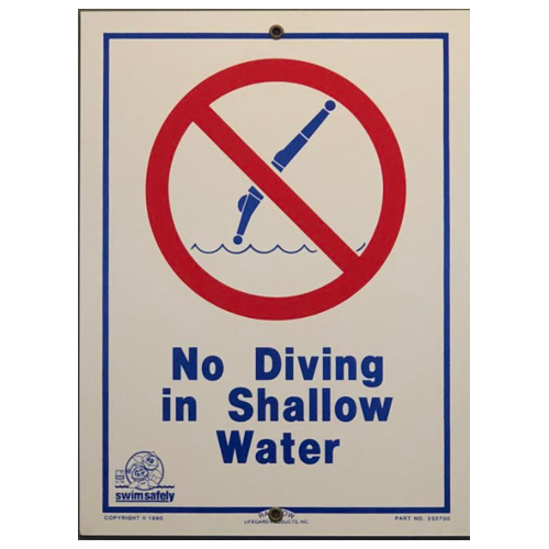 No Diving in Shallow Pool 500px