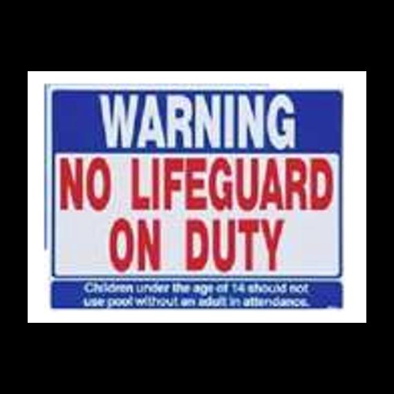No Lifeguard on Duty 600px